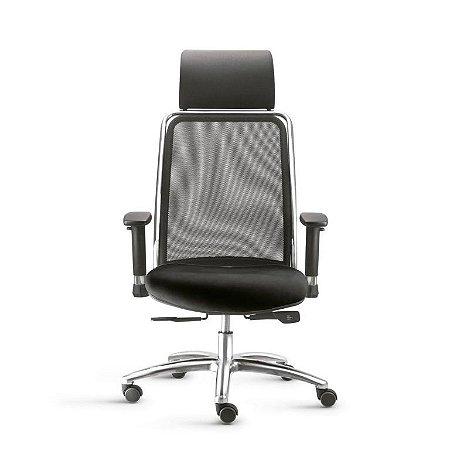 Cadeira Presidente Soul Base Aluminio Syncron Frisokar