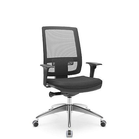 Cadeira Diretor Brizza Relax - Base ALumínio - Braços 3D PU - Plaxmetal