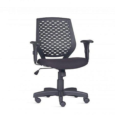 Cadeira Para Escritório Diretor Giratória LIS113 - Mecanismo Relax - Encosto em Plástico - Base Metálica com Capa - Linha LISS - Braço PP - Frisokar
