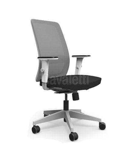 Cadeira Diretor Giratória Operativa 42101 Syncron RP Braço ID Base Alumínio Apoio Lombar Velo Cavaletti