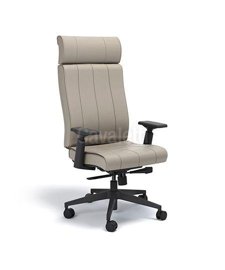 Cadeira Presidente Essence - Syncron - Base Nylon Braços 4D - Cavaletti 20501