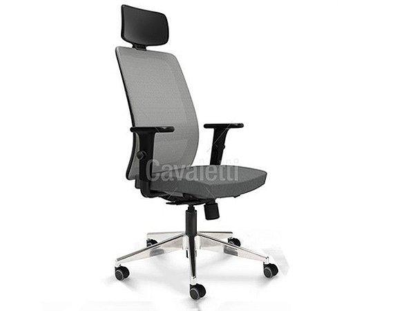 Cadeira Presidente Vélo 42101 AC - Braços ID - Base Alumínio - Cavaletti