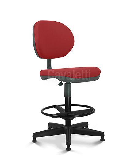 Cadeira Caixa - 8223 Stool   Mecanismo Flange  Aranha de aço coberta por polaina de PP Cavaletti Stilo