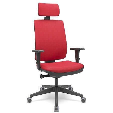 Cadeira Presidente Brizza Soft - Autocompensador Slider - Base Piramidal - Braços 3D PU - Plaxmetal