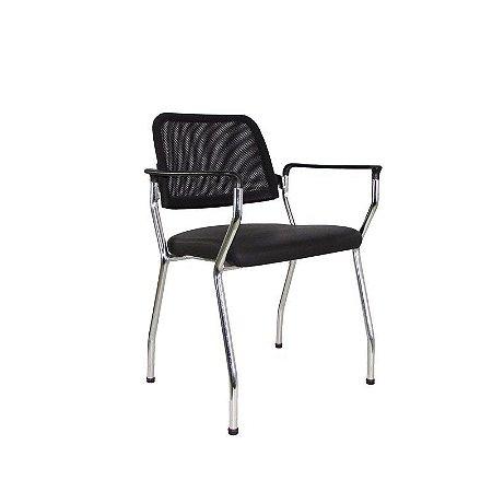 Cadeira Aproximação NewNet 16007 P - Base Cromada - Cavaletti
