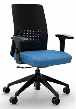 Cadeira Giratória 17201 Syncron, Enc. Plástico Preto, Aranha UP Preta, Rod. 65 Nylon, Braço SL Preto, Injetado