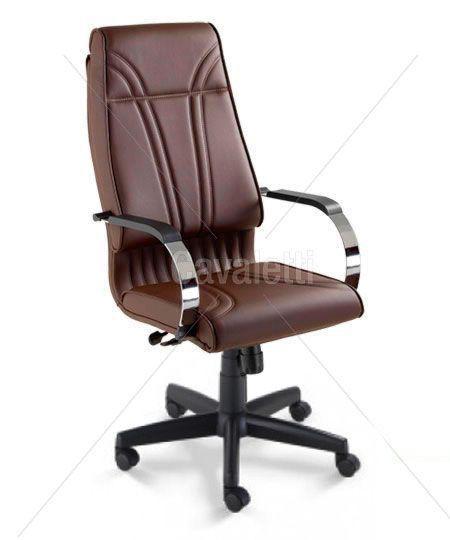 Cadeira Presidente Master 20001 Base Polaina e Braços Cromados Cavaletti