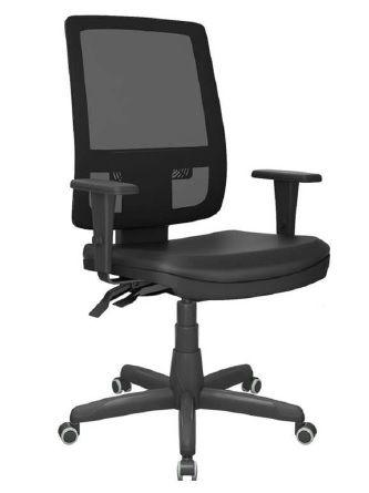 Cadeira Giratoria Presidente Brizza Tela Back System Plax - Base Standard Braços 3D PP - Plaxmetal
