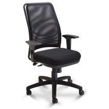 Cadeira para escritório giratória presidente 16001 - (LR) - Syncron - Braço SL - Com Apoio Lombar - Base Polaina Cavaletti