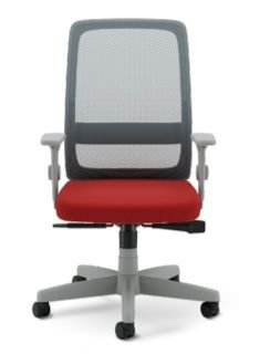 Cadeira Giratoria Velo Light 42501 Syncron,  Enc. Tela Cinza, Aranha c/ Polaina Presidente, Rod. 50 Nylon, Braço SL New PP, Inj -  Cinza Cavaletti