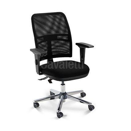 Cadeira Cavaletti Executiva NewNet 16003 Braços SL - Base Cromada - SRE Cavaletti Certificada NR17- NBR 13962