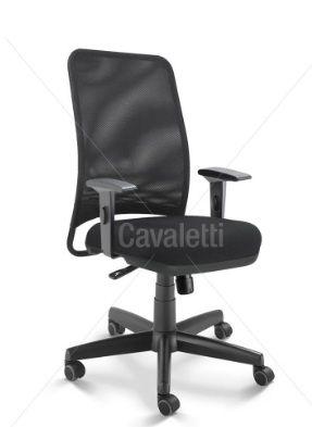 Cadeira para escritório giratória diretor 16002 (LR) - Syncron - Linha NewNet - Braço SL - Cavaletti - Base Polaina