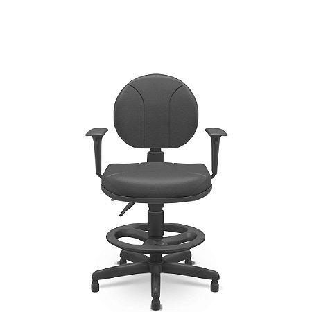 Cadeira Caixa Operativa Executiva Certificada Com Back System Plaxmetal