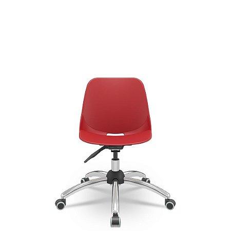 Cadeira Giratória base Cromada Quick Plaxmetal