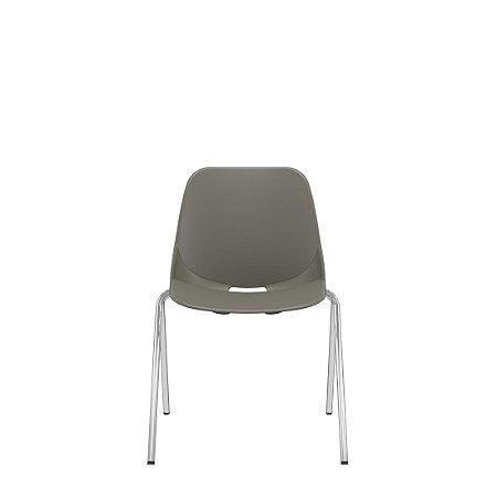 Cadeira Fixa 4 Pés Empilhável Quick Diálogo Plaxmetal
