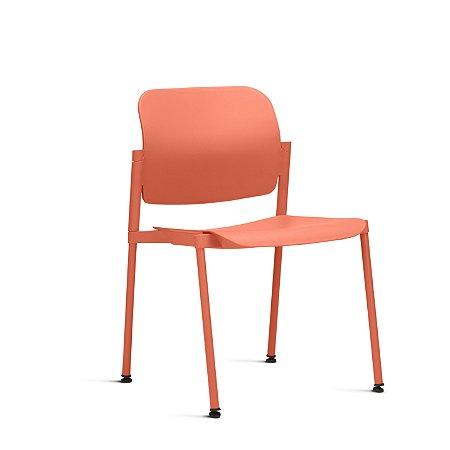 Cadeira Fixa 4 Pes Sem Braço Leaf Frisokar