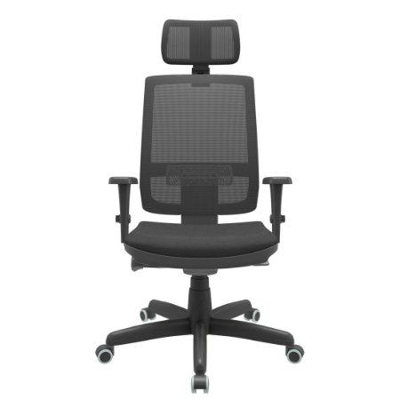 Cadeira Presidente Brizza Tela - Autocompensador Syncron - Base Standard - Braços 3D PP - Plaxmetal