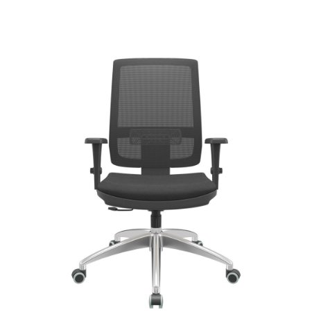 Cadeira  Brizza Presidente  Tela  Relax Apoio Lombar - Base Cromada Braços 3D PP Plaxmetal