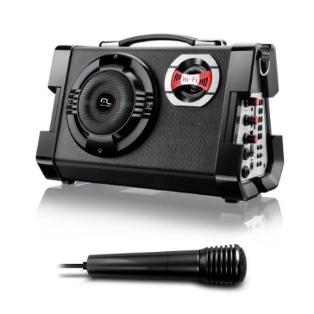 CAIXA DE SOM MULTIUSO COM MICROFONE MP3/ USB/SD/FM/GUITARRA SP191 MULTILASER