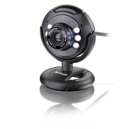 WEBCAM 16MPX PRETO LED WC045 MULTILASER