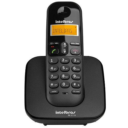 TELEFONE INTELBRAS TS3110 ID S/FIO PRETO