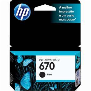 CARTUCHO HP CZ113AB TINTA PRETO (7,5 ML) HP670