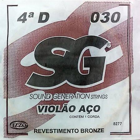 "ENCORDOAMENTO P/VIOLAO ACO (010) AVULSA 4A ""D"" SG5277 SG"