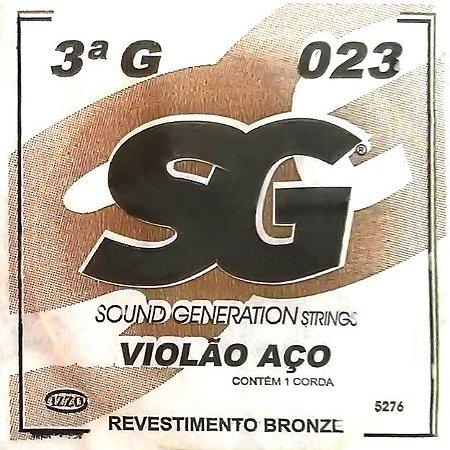 "ENCORDOAMENTO P/VIOLAO ACO (010) AVULSA 3A ""G"" SG5276 SG"
