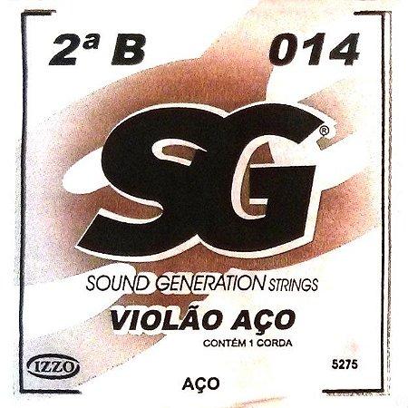 "ENCORDOAMENTO P/VIOLAO ACO (010) AVULSA 2A ""B"" SG5275 SG"