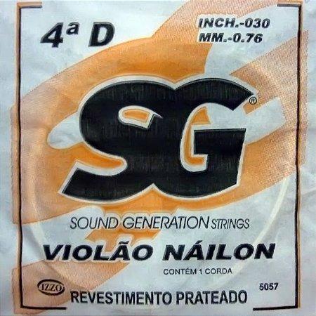 """ENCORDOAMENTO P/VIOLAO NYLON (030) AVULSA 4A """"D"""" SG5057 SG"""