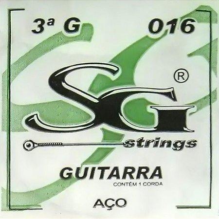"""ENCORDOAMENTO P/GUITARRA (009) AVULSA 3A """"G"""" SG5147 SG"""