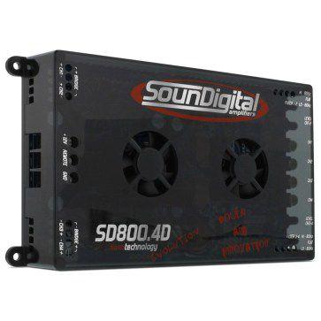 MODULO SOUNDIGITAL SD800.4D EVO4 4X200W/2HOMS OU 2X400W/4HOMS