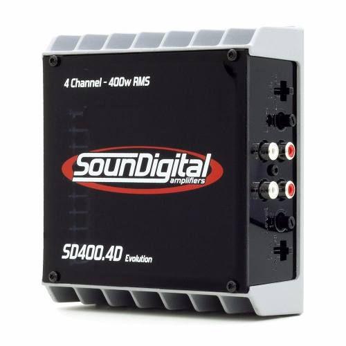 MODULO SOUNDIGITAL SD400.4D EVO 4X100W 2OHMS OU 2X200W 4OHMS
