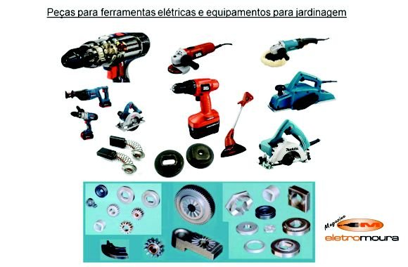 Peças p/ferramentas elétricas e jardinagem