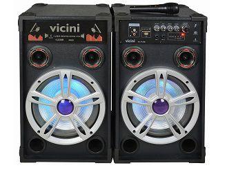 CAIXA DE SOM VICINI VC7120B USB/SD/FM/BLUETOOH 120W BIVOLT