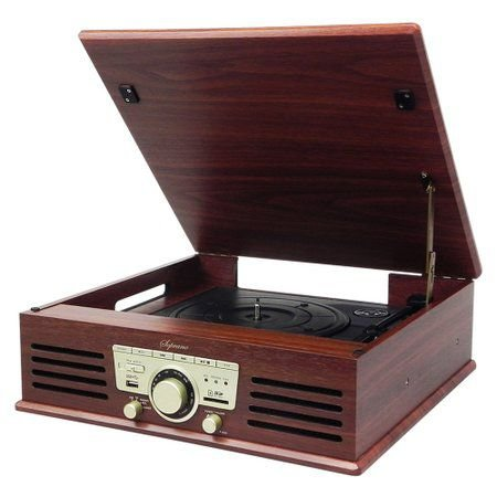 RADIO RETRO SOPRANO TOCA-DISCOS/FM/USB