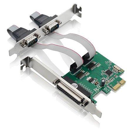 PLACA PCI EXPRESS 2 SERIAL + 1 PARALELA GA128 MULTILASER