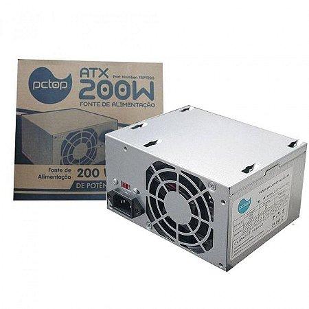 FONTE ALIM ATX 200W REAIS SATA FAPT200 PCTOP