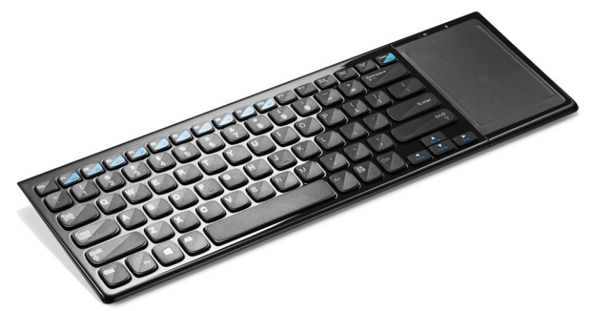 TECLADO S/ FIO 2.4 GHZ TOUCH INTEGRADO PRETO USB TC190 MULTILASER