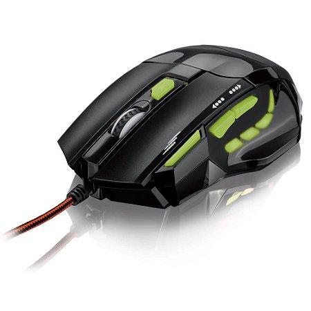 MOUSE OPTICO USB C/ LED VERDE GAMER 2000 DPI MO208 MULTILASER
