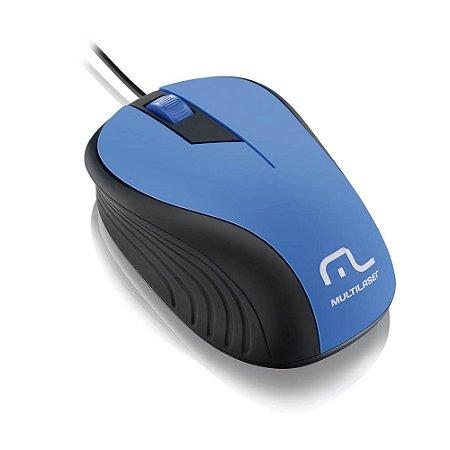 MOUSE EMB. AZUL E PRETO C/ FIO USB MO226 MULTILASER