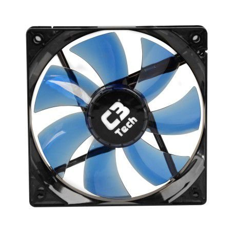COOLER FAN P/GABINETE 120X120X25 LED  F7-L100RD C3 TECH
