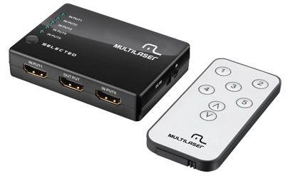 SWITCH HDMI 5 PORTAS RE048 MULTILASER