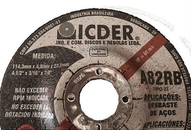 DISCO DESBASTE 4,5'' ICDER