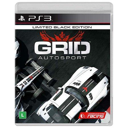 JOGO GRID AUTOSPORT BLACK EDITION PS3