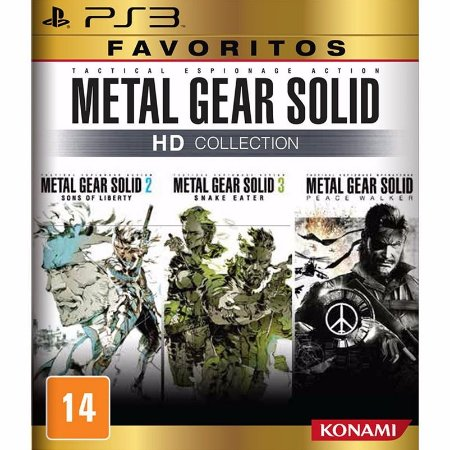 JOGO METAL GEAR SOLID HD COLLECTION FAVORITOS PS3