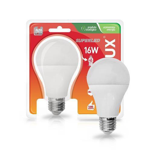 LAMPADA LED 16W/100W E27 6400K SUPERLED ALTA POTENCIA BIVOLT OUROLUX