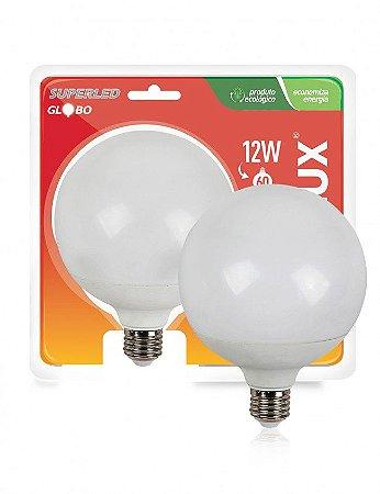 LAMPADA LED 12W/60W E27 6400K SUPERLED GLOBO BIVOLT OUROLUX