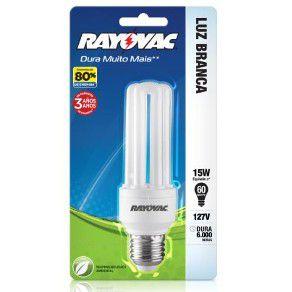 LAMPADA 15W COMPACT FLAT LUZ BRANCA 127V - RAYOVAC