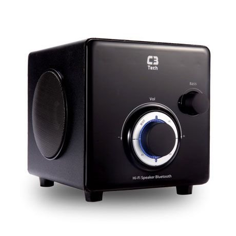 CAIXA DE SOM SPEAKER 2.1 FM/SD/USB/AUX/BLUETOOTH 10W SP-330B BK  C3TECH
